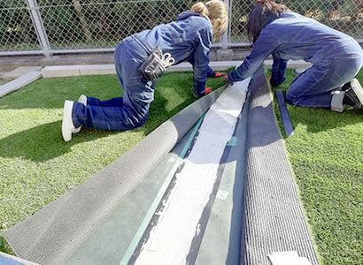 人工芝専門職人の施工で耐久性アップ