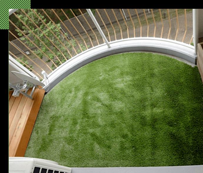 簡単に人工芝が 設置できます