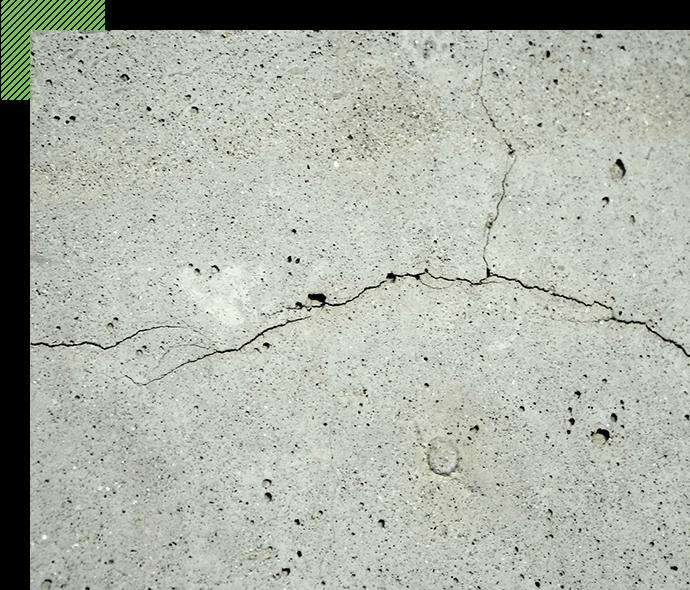 コンクリートの ひび割れ・剥がれ対策に