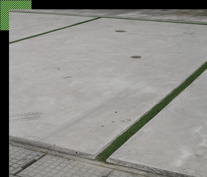 コンクリートとコンクリートの 目地の活用にも最適